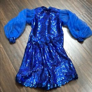 Vintage Royal Blue Dance Set. EUC Child Large (8)